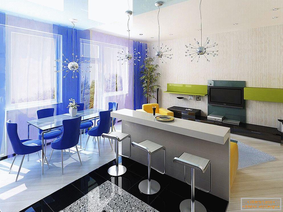 Diseño interior del living-comedor: 75 fotos de ideas
