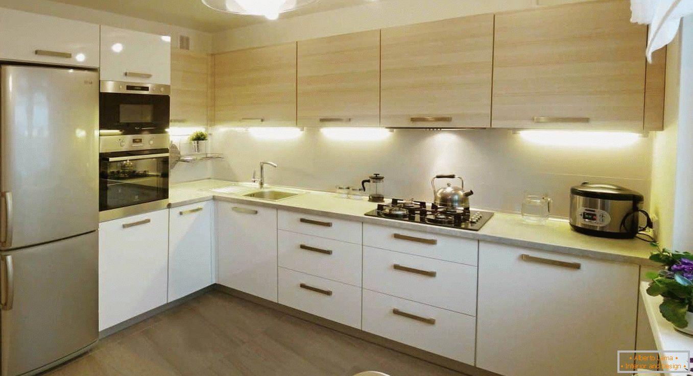 Diseño de la cocina 10 metros cuadrados - 30 fotos de ideas