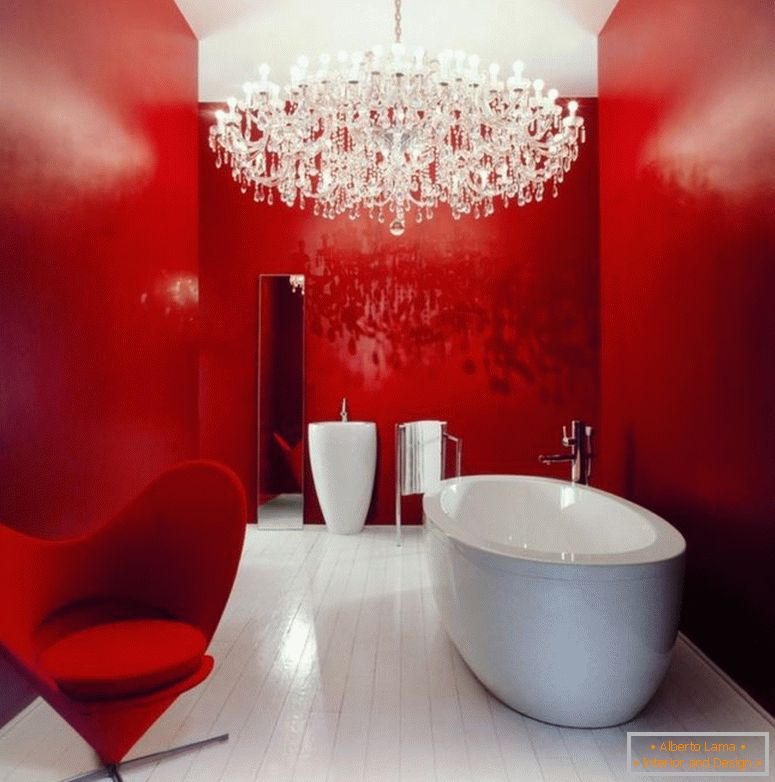 cool-cost-bathroom-remodelling-ideas-for-bathroom-with-large-chandeliers-lamp-and-red-painting-acent-walls-also-classic-luxury-hanging-lamp-decorating-inspirations