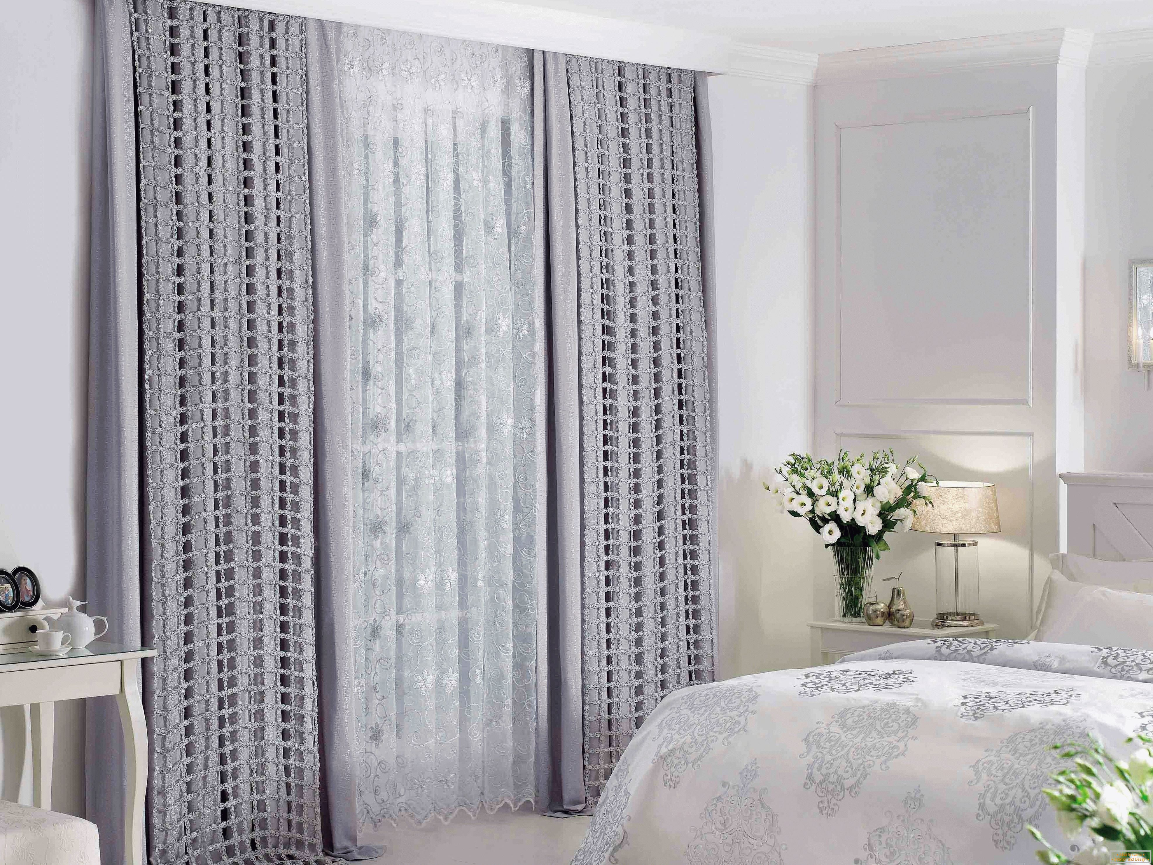 Cortinas grises brillantes