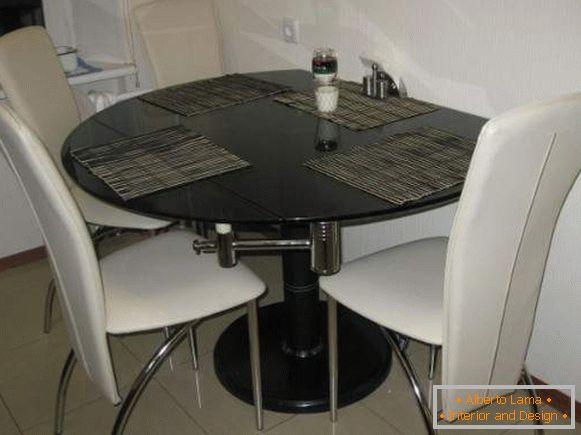 Qué mesa de cocina plegable elegir - 67 fotos-ideas