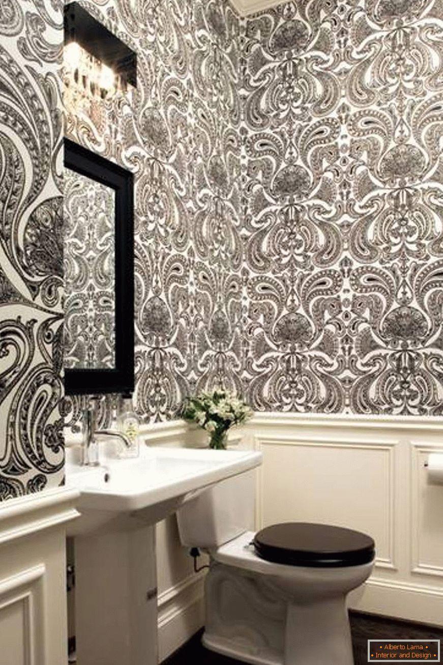 Papel pintado para el baño - 110 fotos de ideas en el