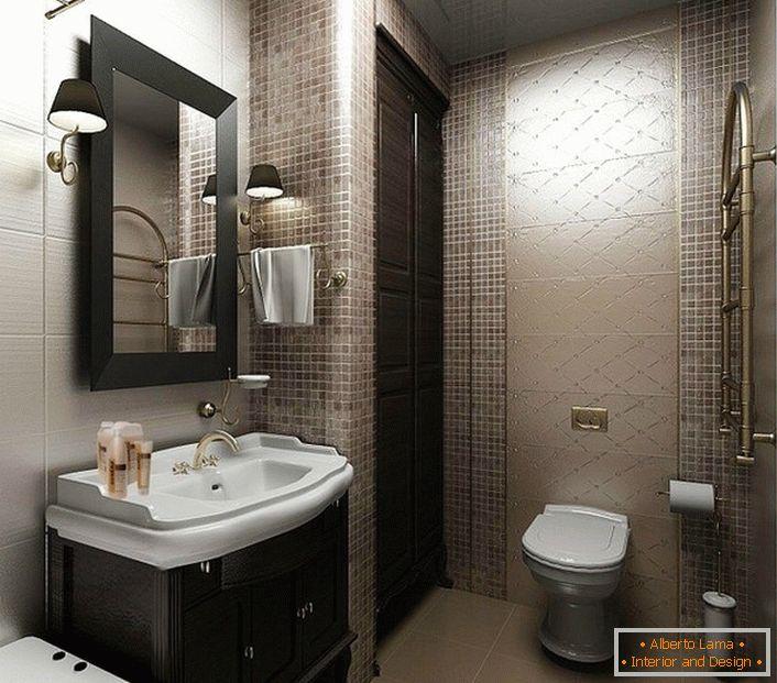1a2b55e5c584 Diseñamos un diseño moderno de un baño pequeño (60 ideas de