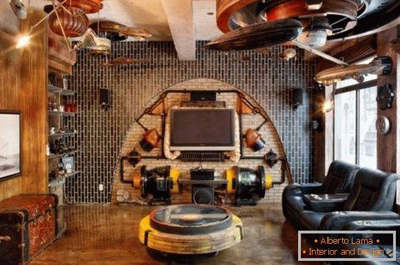 Estilo Steampunk En El Interior Invasión Del Diseño