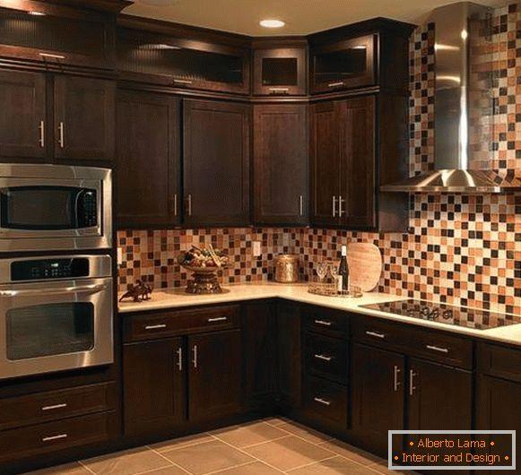 Cocinas de esquina (foto 2016): novedades en el diseño de