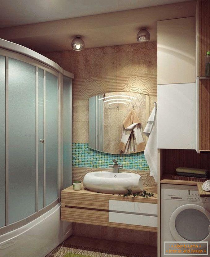 Cuarto de baño con diseño de cabina de ducha