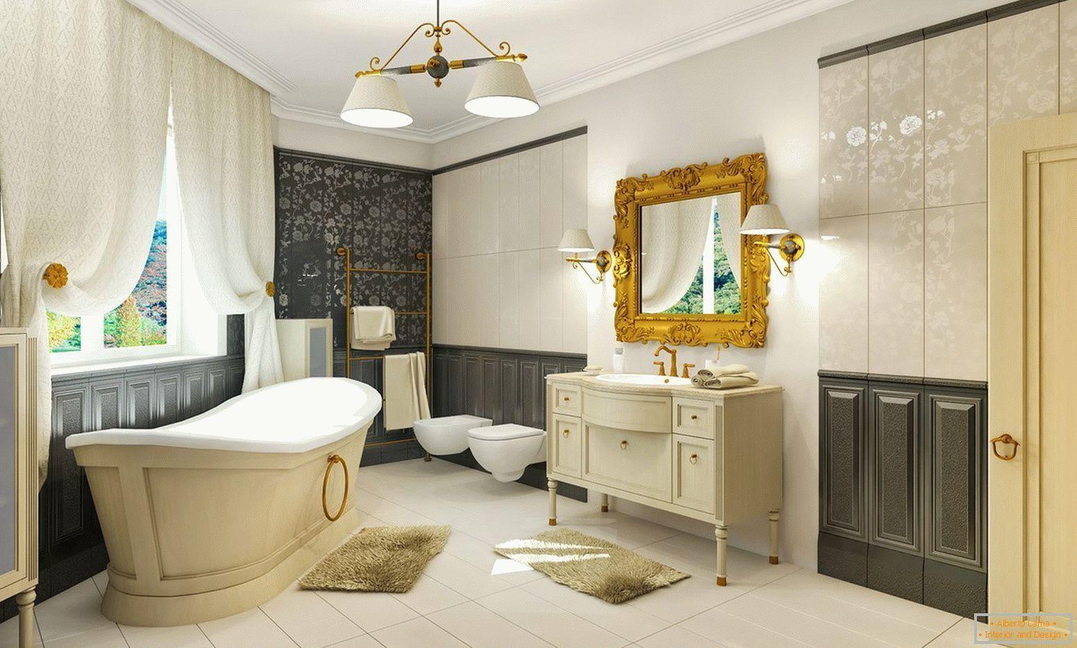 Cuarto de baño en estilo clásico: diseño de interiores
