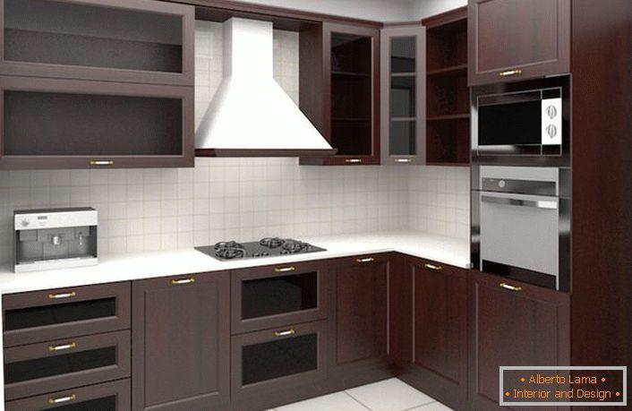 Variantes de disposición de muebles para cocina de esquina